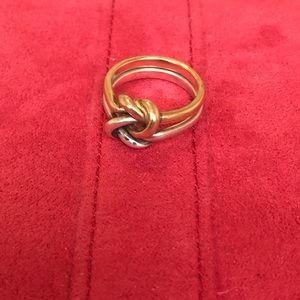 James Avery Original Lovers Knot Ring 14k & 925